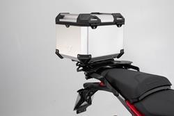 TRAX ADV Topcase-System. Silbern. Ducati Multistrada 1200 Enduro/950/1260.