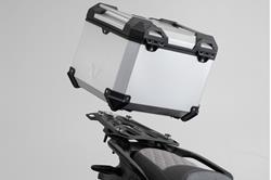TRAX ADV Topcase-System. Silbern. BMW S1000 XR (15-). Für BMW Gepäckbrücke.