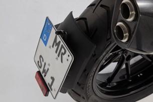 Bild von Kennzeichenträger. Schwarz. BMW R 1200 GS (13-).
