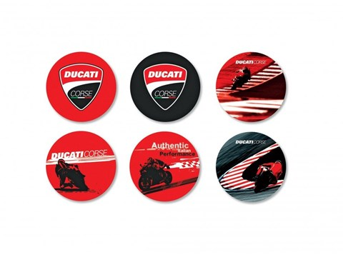 Ducati Corse Untersetzer- Set