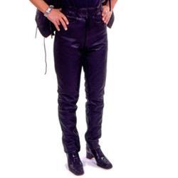 Leder-Jean schwarz 44