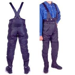 Lederhose mit Träger schwarz 52