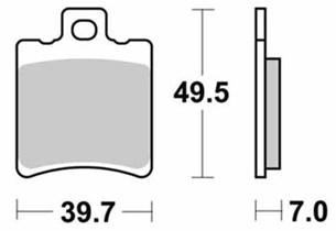 Bild von SBS RACING Bremsklotz 771DC Dual Carbon