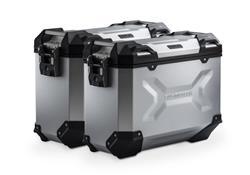 TRAX ADV Alukoffer-System. Silbern. 37/37 l. BMW R 1200 R/RS, R 1250 R.