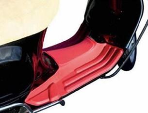 Bild von Fußmatte Vespa S50/LX50/125/150 rot