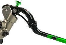 Accossato cnc-worked brake master cylinder 19x18, Color: Green, Type: Long | CY001G-L-18