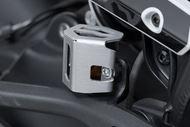 SW-MOTECH Bremsflüssigkeitsbehälter-Schutz. Silbern. BMW GS/GT-Modelle,Ducati Modelle,KTM 790.