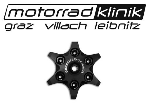 Kupplungsdruckplatte von Ducati Performance in Sternoptik schwarz inkl. Lager Federteller und Unterlegscheiben passend für alle Trockenkupplungen statt € 166 nur€ 83