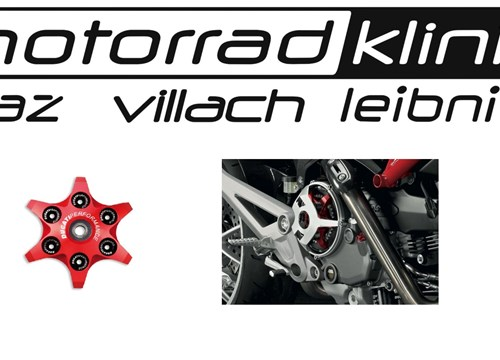 Kupplungsdruckplatte von Ducati Performance in Sternoptik rot inkl. Lager Federteller und Unterlegscheiben passend für alle Trockenkupplungen statt € 166 nur€ 83