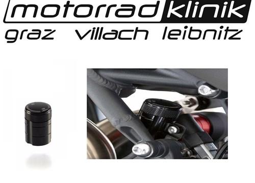 Bremsflüssigkeitsbehälter hinten eloxiert schwarz Speed Triple R Baujahr 2011 - statt €72 nur €36