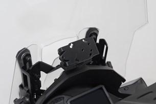 Bild von Navi-Halter im Cockpit. Schwarz. Kawasaki Versys 1000 (18-).