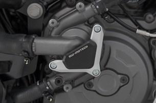 Bild von Wasserpumpenschutz. Schwarz/Silbern. Ducati Modelle.