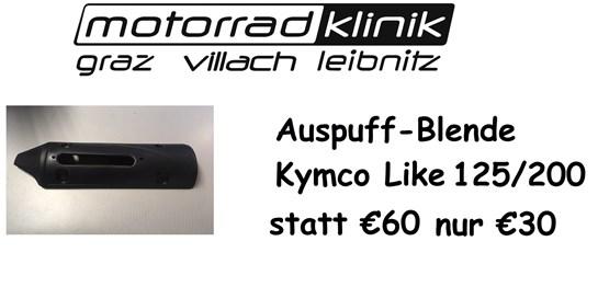 Kymco Auspuffblende 125/200 Like statt €60.- nur €30.-