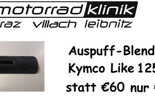 Auspuffblende 125/200 Like statt €60.- nur €30.-