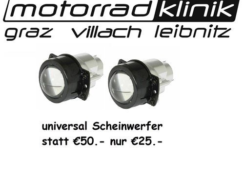 Scheinwerfer universal statt €50.- nur €25.-