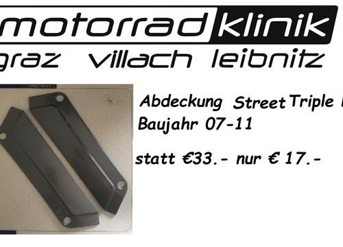 Abdeckung Street Triple R Baujahr 07-11 statt €33.- nur € 17.-