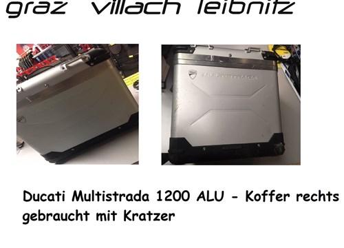 Multistrada 1200 ALu Koffer rechts nur €50.- gebrauchter Koffer Kratzer vorhanden