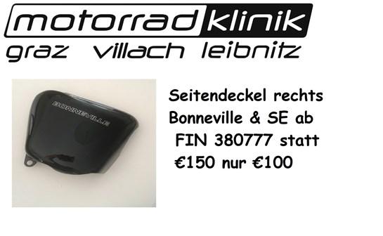 Triumph Seitendeckel rechts Bonnie - Bonneville & SE ab FIN380777 statt € 150 nur €100