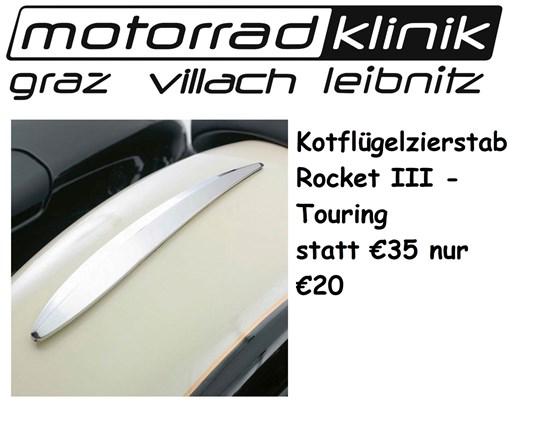 Triumph Kotflügelzierstab grau für Rocket III Touring statt € 35 nur €20
