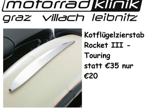 Kotflügelzierstab grau für Rocket III Touring statt € 35 nur €20