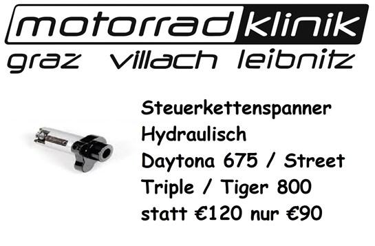 Triumph Steuerkettenspanner Hydraulisch Daytona 675 / Street Triple / Tiger 800 statt € 120 nur €90