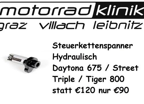 Steuerkettenspanner Hydraulisch Daytona 675 / Street Triple / Tiger 800 statt € 120 nur €90