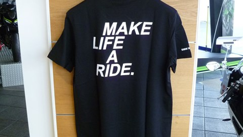 T-Shirt MAKE LIFE A RIDE Herren - versandkostenfrei