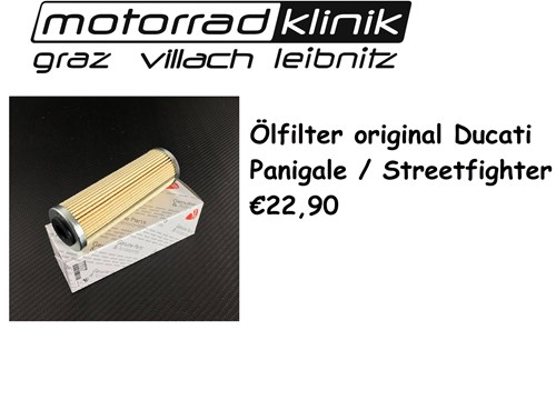 ÖLFILTER original €21,90 Streetfighter Streetfighter V4 Panigale 899 Panigale 1199 Panigale 1299 Panigale 959 Panigale R Panigale V2 Panigale V4