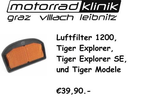 LUFTFILTER 1200, Tiger Explorer, Tiger Explorer SE, und Tiger Modele 39,90
