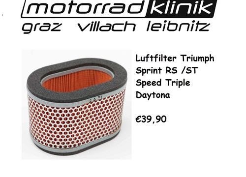 LUFTFILTER DAYTONA 955I /SPEED TRIPLE/SPRINT RS/ST €39,90