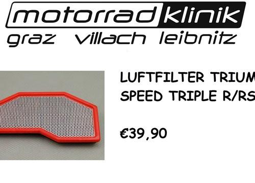 LUFTFILTER SPEED TRIPLE S /SPEED TRIPLE R/SPEED TRIPLE RS €39,90