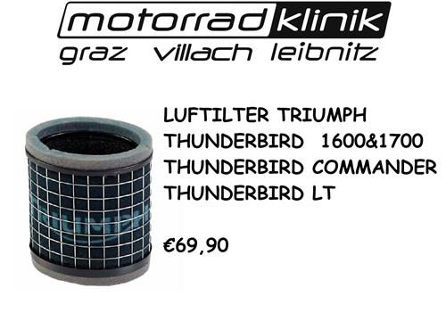 LUFTILTER THUDERBIRD 1600 &1700/THUNDERBIRD COMMANDER/THUNDERBIRD LT €69,90