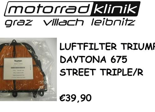 LUFTFILTER DAYTONA 675/STREET TRIPLE/R €39,90
