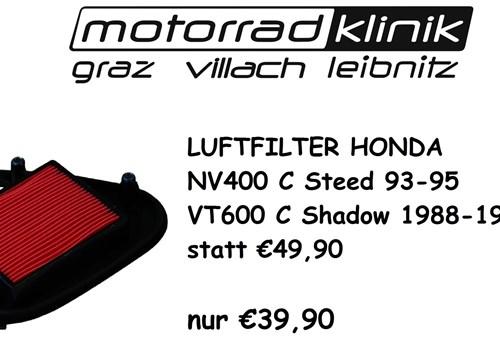 LUFTFILTER NV400 C Steed 93-95 /VT600 C Shadow 1988-1997 STATT €49,90 NUR €39,90
