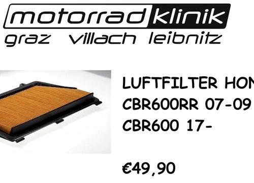 LUFTFILTER CBR600RR 07-09 PC40 /CBR600 17- €49,90
