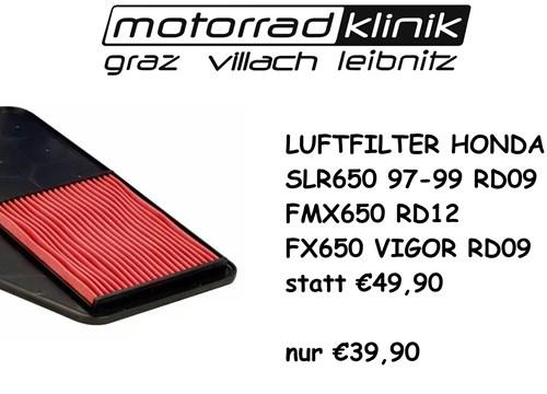 LUFTFILTER SLR650 97-99/ FMX650 RD12 /FX650 VIGOR RD09/SLR650 RD09 STATT €49,90 NUR €39,90