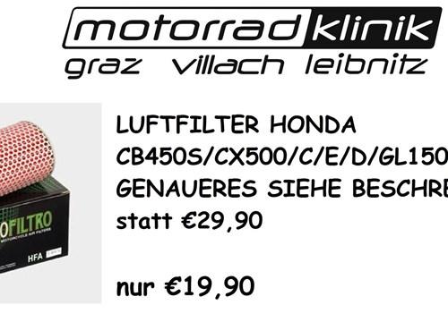 LUFTFILTER CB450 S/CX500/C/E/D/GL1500D STATT €29,90 NUR €19,90 GENAUERES SIEHE BESCHREIBUNG