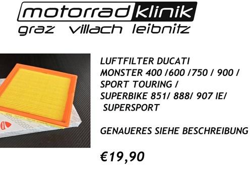 LUFTFILTER MONSTER 400 /600 /750 / 900 /SPORT TOURING /SUPERBIKE 851/ 888 / 907 IE/ SUPERSPORT €19,90 GENAUERES SIEHE BESCHREIBUNG