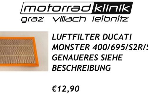 LUFTFILTER MONSTER 400/695/S2R/S4 €12,90 GENAUERES SIEHE BESCHREIBUNG
