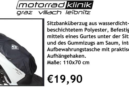 Sitzbanküberzug aus wasserdicht-beschichtetem Polyester €19,90 (genaueres siehe Beschreibung )
