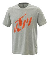 RADICAL SLICED TEE GREY MELANGE