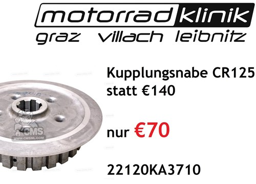 Kupplungsnabe CR125 83-87 statt €140 nur €70