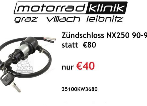 Zündschloss NX250 90-93 statt € 80 nur €40