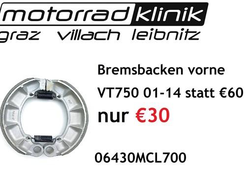 Bremsbacken vorne VT750 01-14 statt €60 nur €30