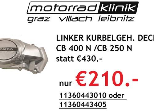 LINKER KURBELGEH. DECKEL CB 400 N, CB 250 N statt €430 nur €210
