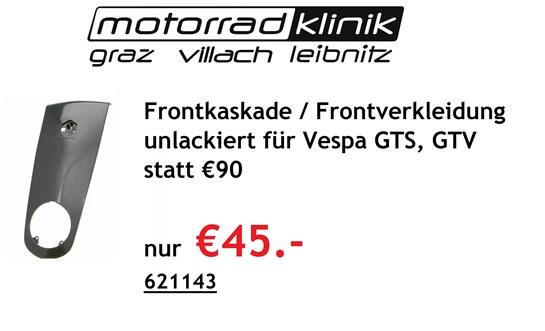 Vespa Frontkaskade / Frontverkleidung unlackiert für Vespa GTS, GTV statt € 90 nur €45.-