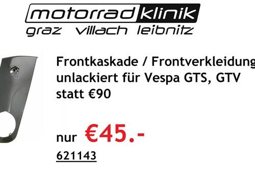 Frontkaskade / Frontverkleidung unlackiert für Vespa GTS, GTV statt € 90 nur €45.-