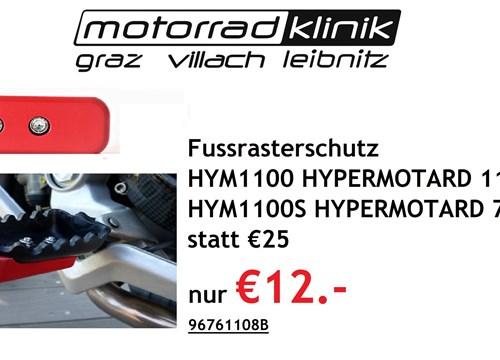 Fussrasterschutz HYM1100 , HYPERMOTARD 1100 EVO , HYM1100S , HYPERMOTARD 796 rot statt €25 nur €12.-