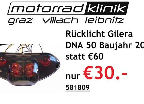 Rücklicht Gilera DNA 50 Baujahr 2006 statt €60 nur €30.-