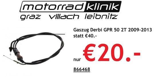 Derbi Gaszug Derbi GPR 50 2T 2009-2013 statt €40.- nur  €20.-